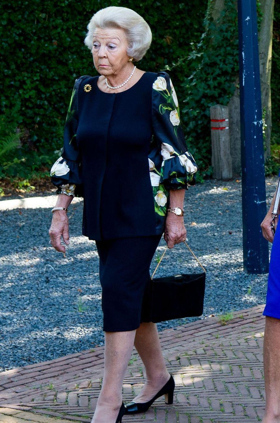 L'ex-reine Beatrix des Pays-Bas aux funérailles de la princesse Christina à La Haye, le 22 juin 2019