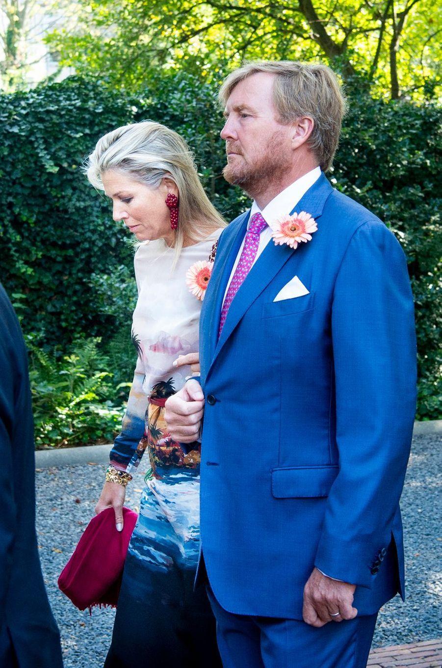 La reine Maxima et le roi Willem-Alexander des Pays-Bas aux funérailles de la princesse Christina à La Haye, le 22 juin 2019