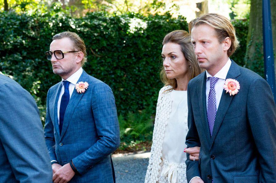 Les neveux et nièces de la princesse Christina des Pays-Bas lors de ses funérailles à La Haye, le 22 juin 2019