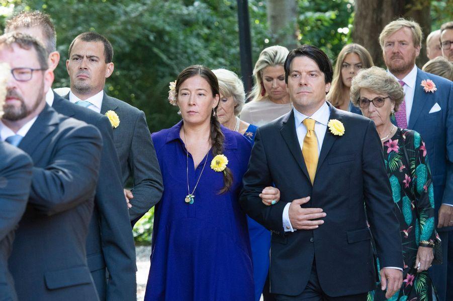 Les trois enfants de la princesse Christina des Pays-Bas lors de ses funérailles à La Haye, le 22 juin 2019