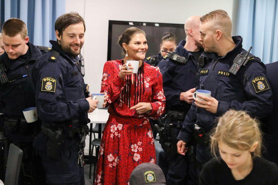 Les princesses Victoria et Estelle et le prince Oscar de Suède, à Stockholm le 24 décembre 2019
