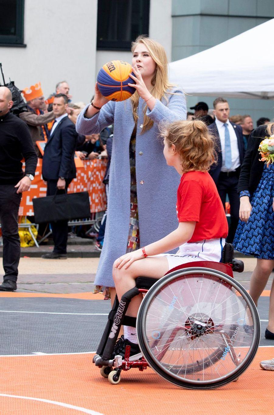 La princesse Catharina-Amalia des Pays-Bas à Amersfoort, le 27 avril 2019