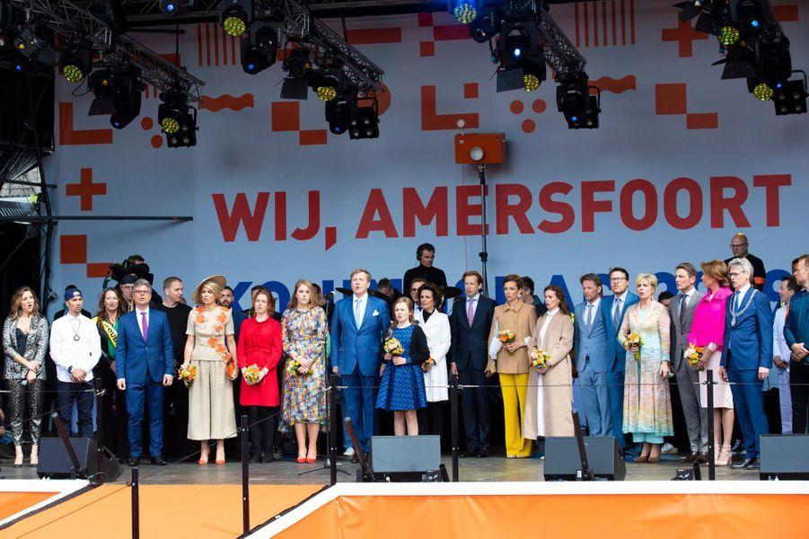 La famille royale des Pays-Bas à Amersfoort, le 27 avril 2019