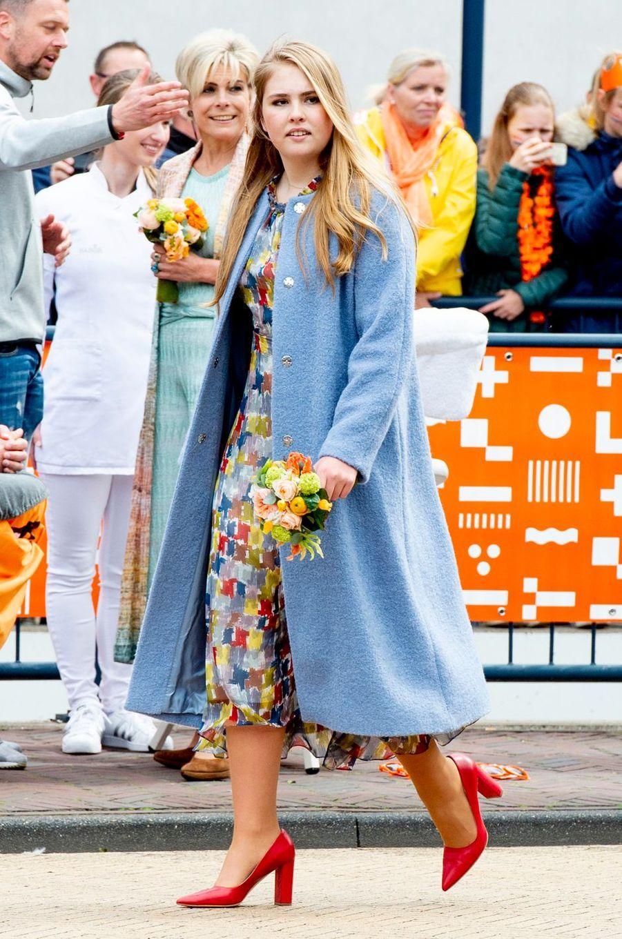 Les princesses Catharina-Amalia et Laurentien des Pays-Bas à Amersfoort, le 27 avril 2019
