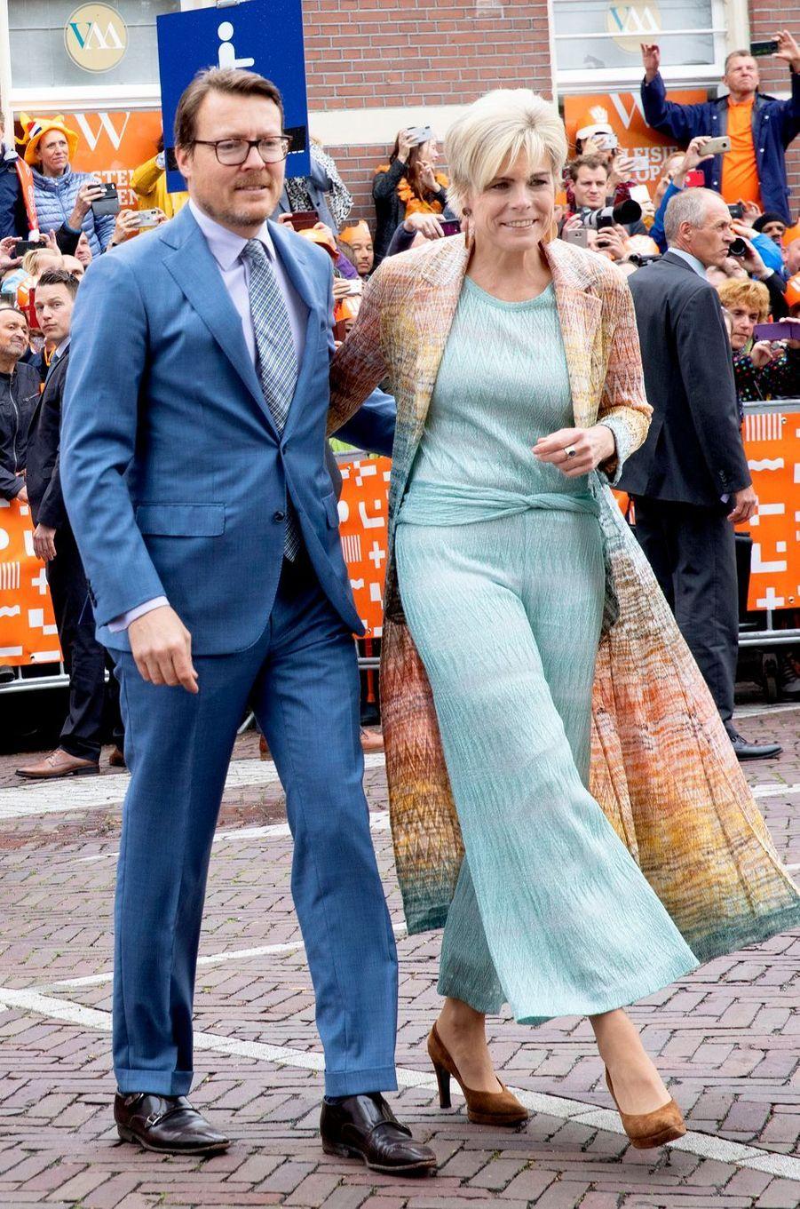 La princesse Laurentien et le prince Constantijn des Pays-Bas à Amersfoort, le 27 avril 2019