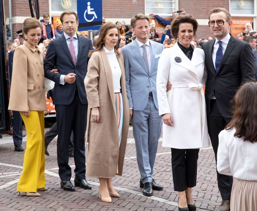 Les princesses Aimée, Anita et Annette et les princes Floris, Pieter-Christiaan et Bernhard des Pays-Bas à Amersfoort, le 27 avril 2019