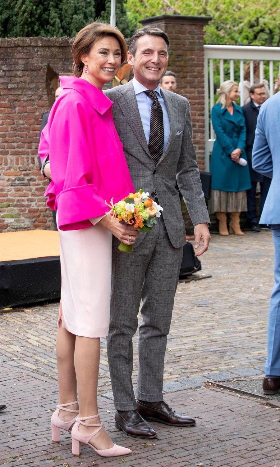 La princesse Marylène et le princeMaurits des Pays-Bas à Amersfoort, le 27 avril 2019