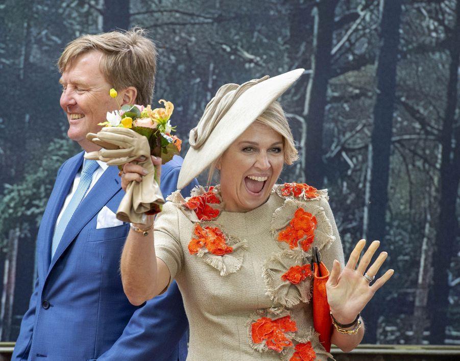 La reine Maxima et le roi Willem-Alexander des Pays-Bas à Amersfoort, le 27 avril 2019