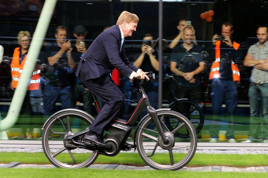 Le roi Willem-Alexander des Pays-Bas à Dieren, le 3 septembre 2015