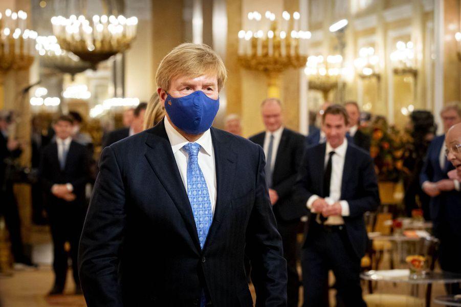 Le roi Willem-Alexander des Pays-Bas à La Haye, le 13 octobre 2020