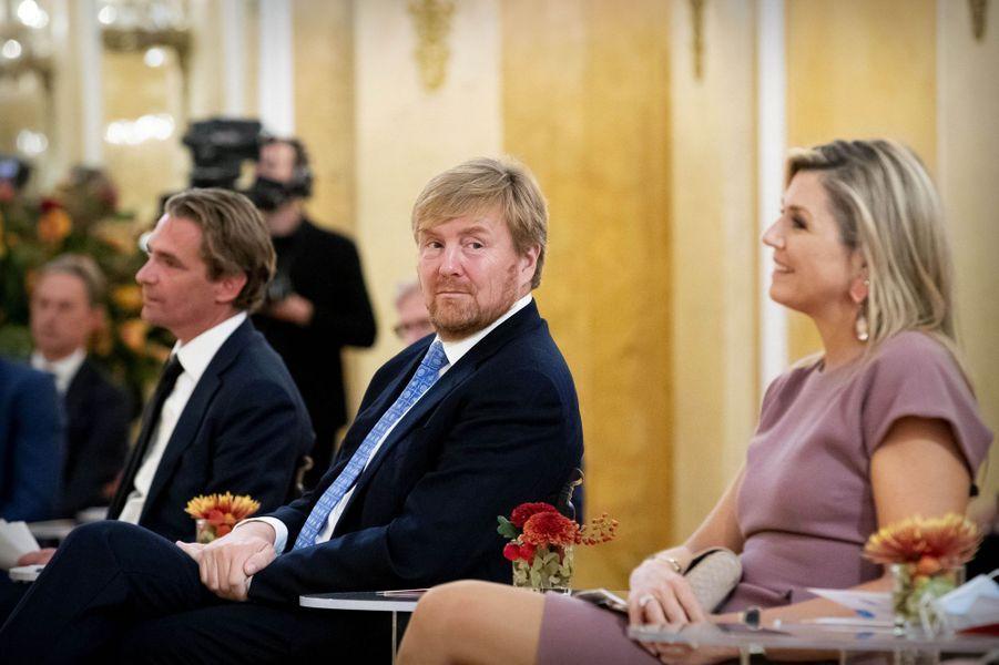 La reine Maxima et le roi Willem-Alexander des Pays-Bas, le 13 octobre 2020 à La Haye