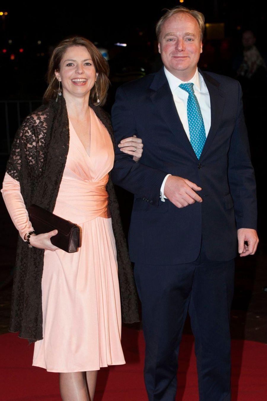 La princesse Annemarie et le prince Carlos de Bourbon de Parme, cousin germain du roi Willem-Alexander des Pays-Bas, à Utrecht le 8 décembre 2014
