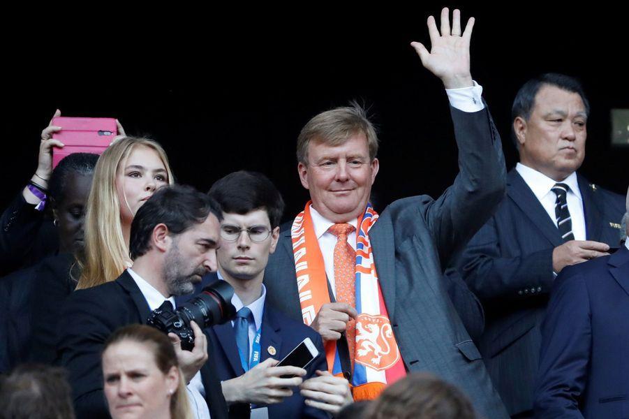 Le roi Willem-Alexander des Pays-Bas et la princesses héritière Catharina-Amalia à Lyon, le 7 juillet 2019