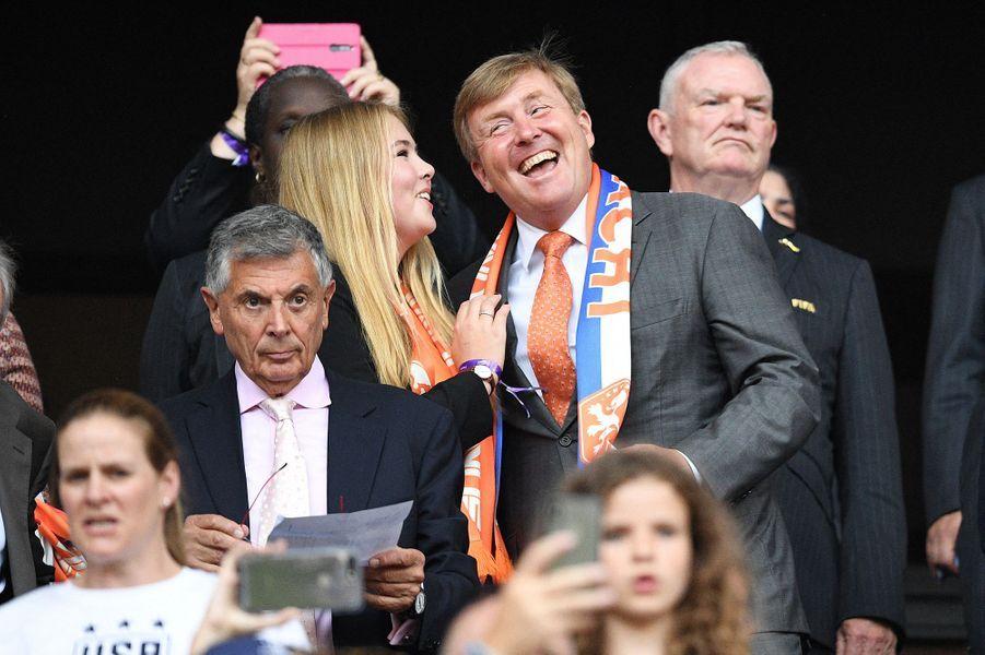 La princesse Catharina-Amalia et le roi Willem-Alexander des Pays-Bas à Lyon, le 7 juillet 2019