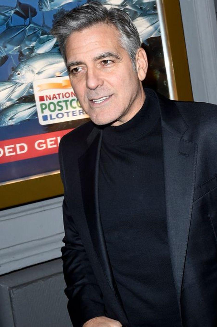 George Clooney à Amsterdam, le 26 janvier 2016