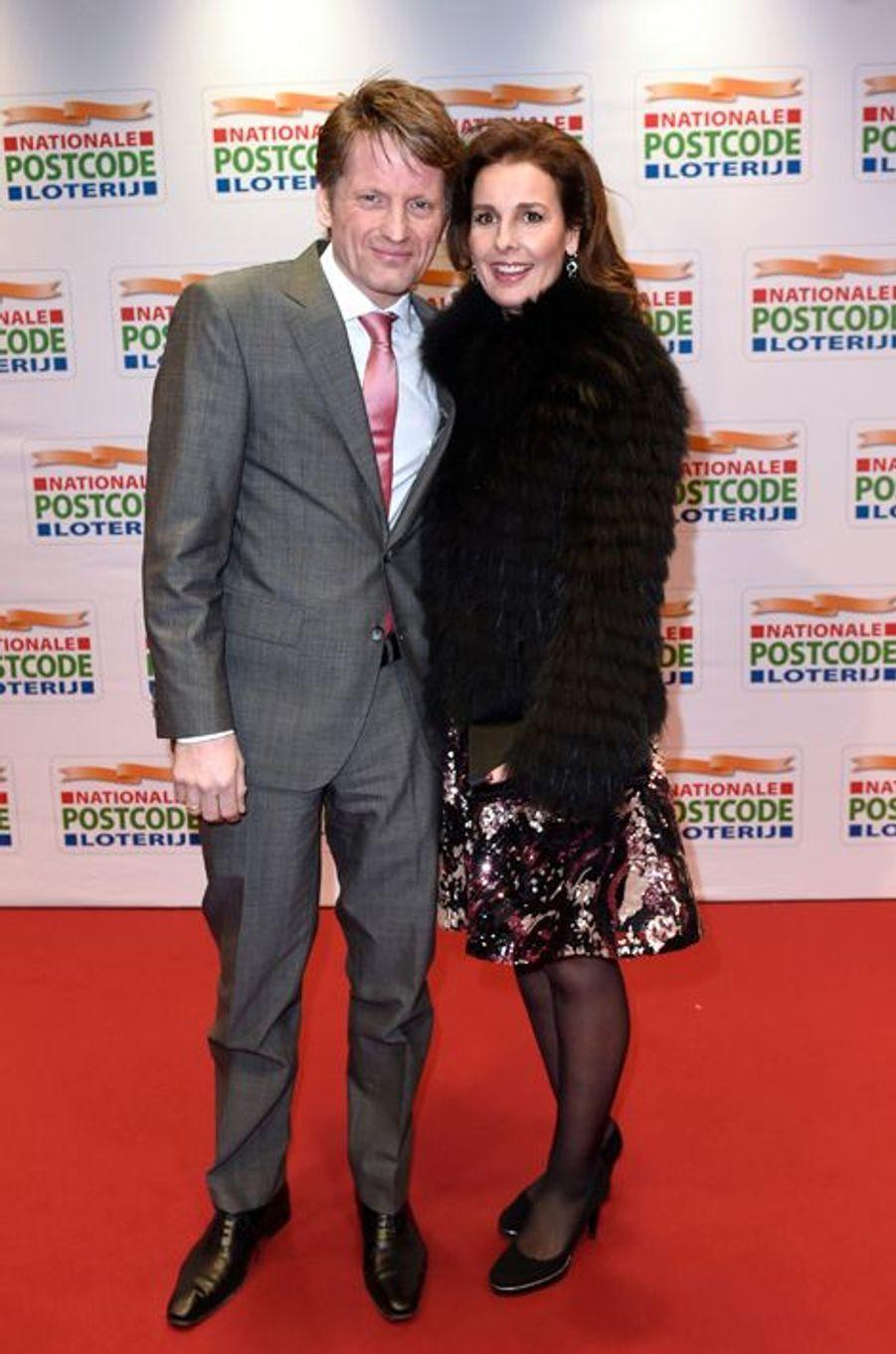 Le prince Pieter-Christiaan d'Oranje-Nassau et la princesse Anita à Amsterdam, le 26 janvier 2016