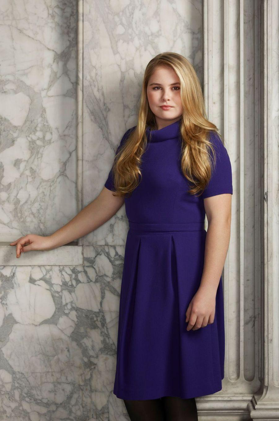 Portrait de laprincesse Catharina-Amalia des Pays-Bas, en mars 2018