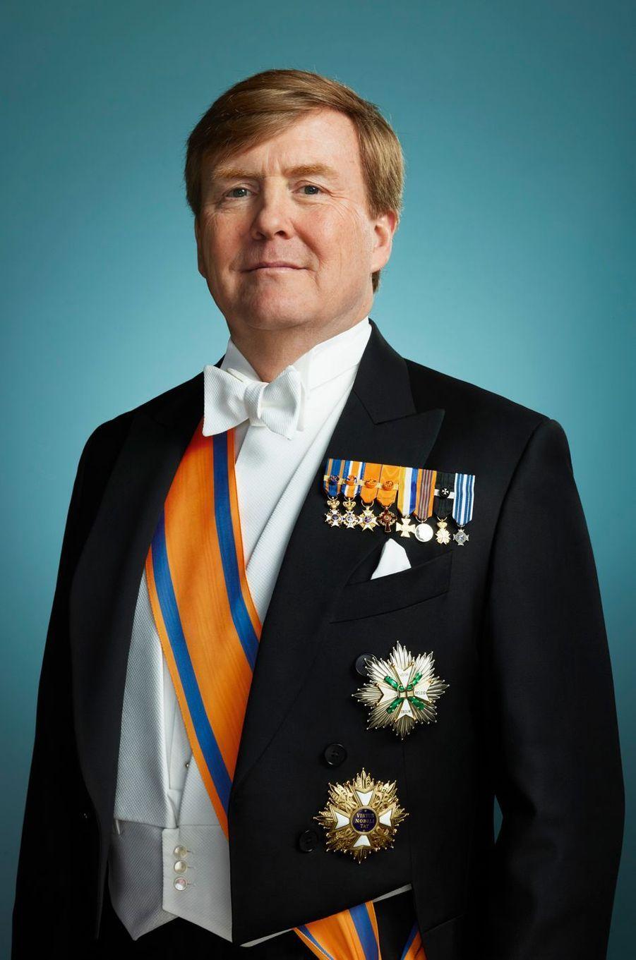 """Nouvelle """"photo d'Etat"""" du roi Willem-Alexander des Pays-Bas, en mars 2018"""