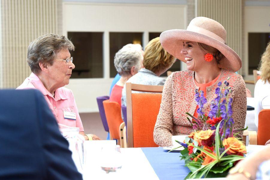 La reine Maxima des Pays-Bas à Franekeradeel en Frise, le 13 juin 2016