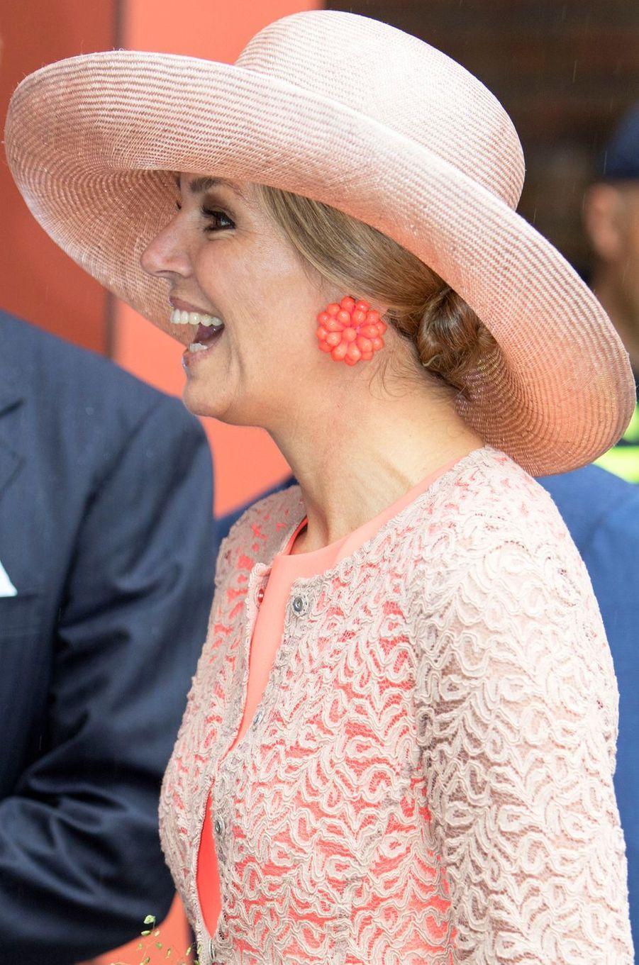 La reine Maxima des Pays-Bas en Frise, le 13 juin 2016