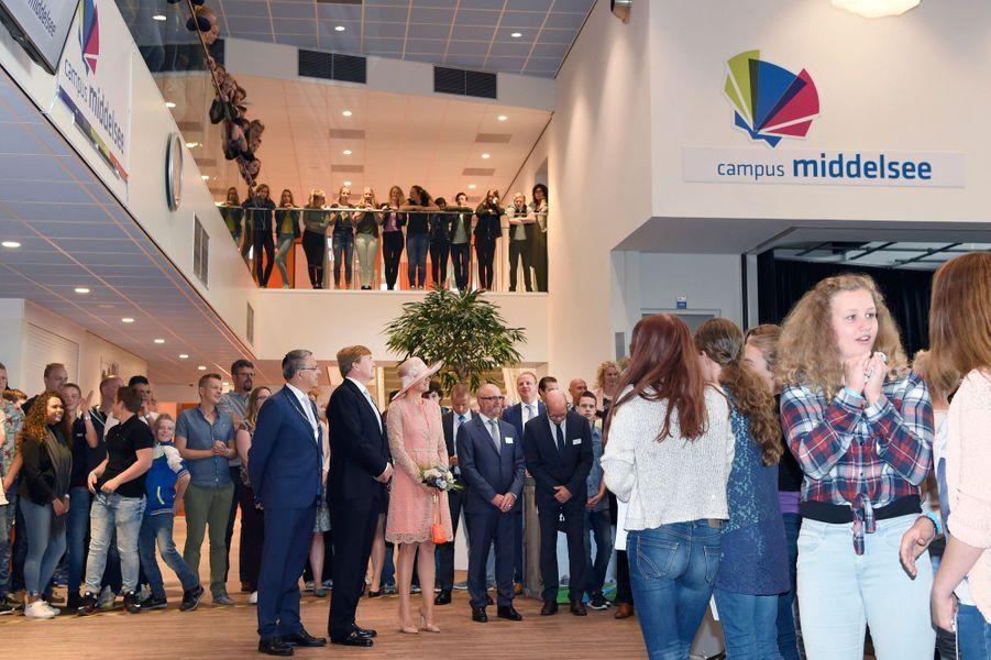 La reine Maxima et le roi Willem-Alexander des Pays-Bas à Het Bildt en Frise, le 13 juin 2016
