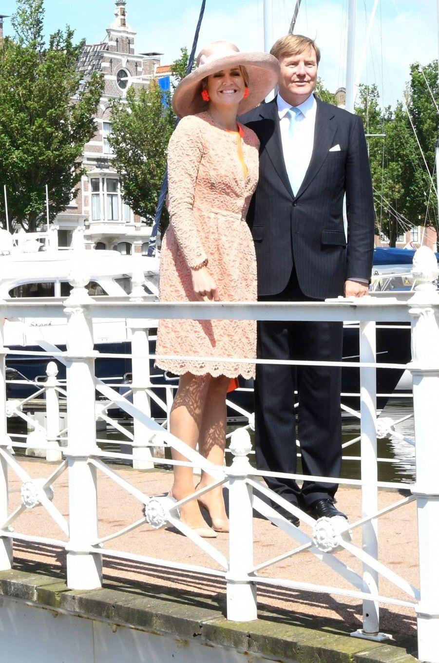 La reine Maxima et le roi Willem-Alexander des Pays-Bas en Frise, le 13 juin 2016
