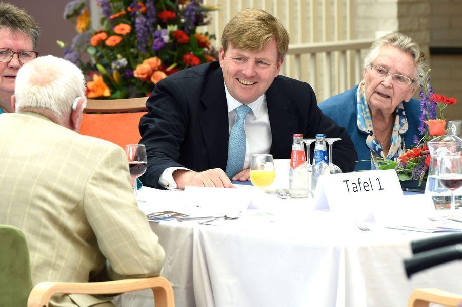 Le roi Willem-Alexander des Pays-Bas à Franekeradeel en Frise, le 13 juin 2016