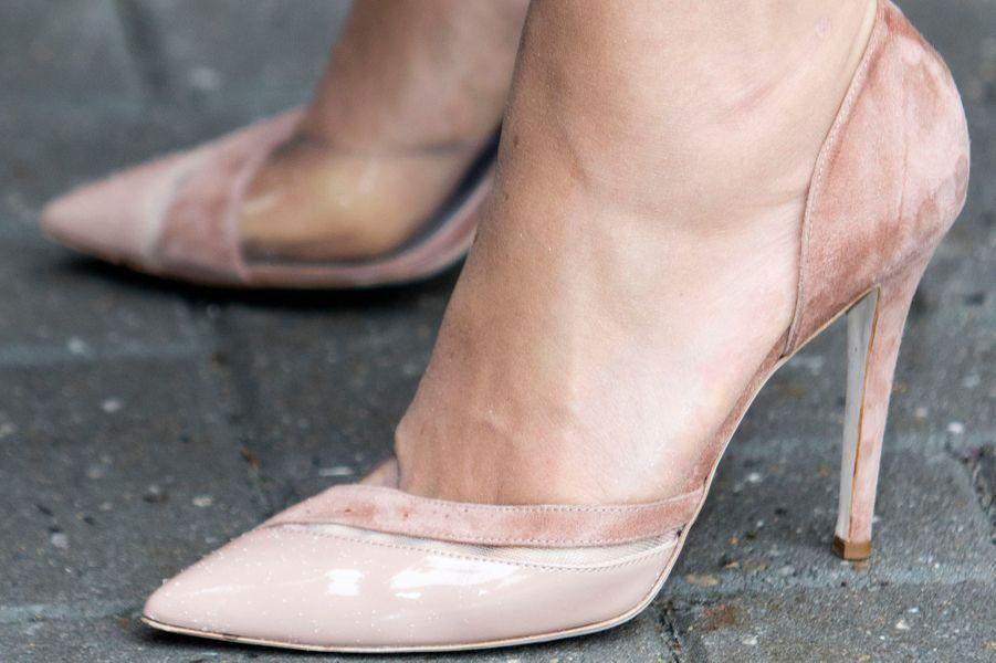 Les chaussures de la reine Maxima des Pays-Bas en Frise, le 13 juin 2016