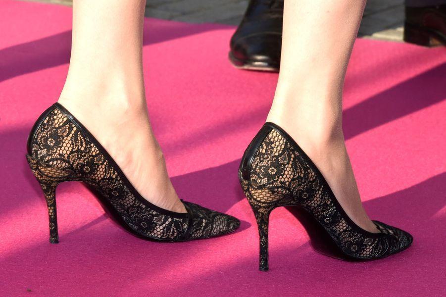 Les chaussures de la princesse Mabel des Pays-Bas à Delft, le 16 mars