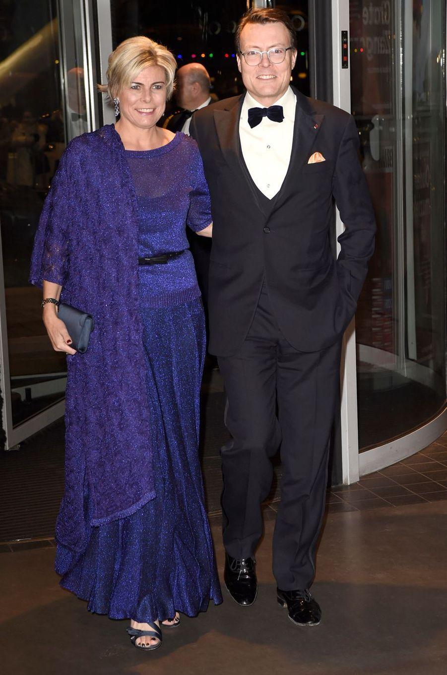 La princesse Laurentien et le prince Constantijn des Pays-Bas à Amsterdam, le 29 novembre 2016