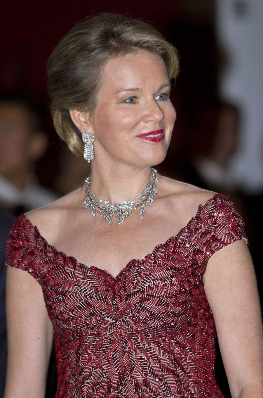 La reine Mathilde de Belgique à Amsterdam, le 29 novembre 2016