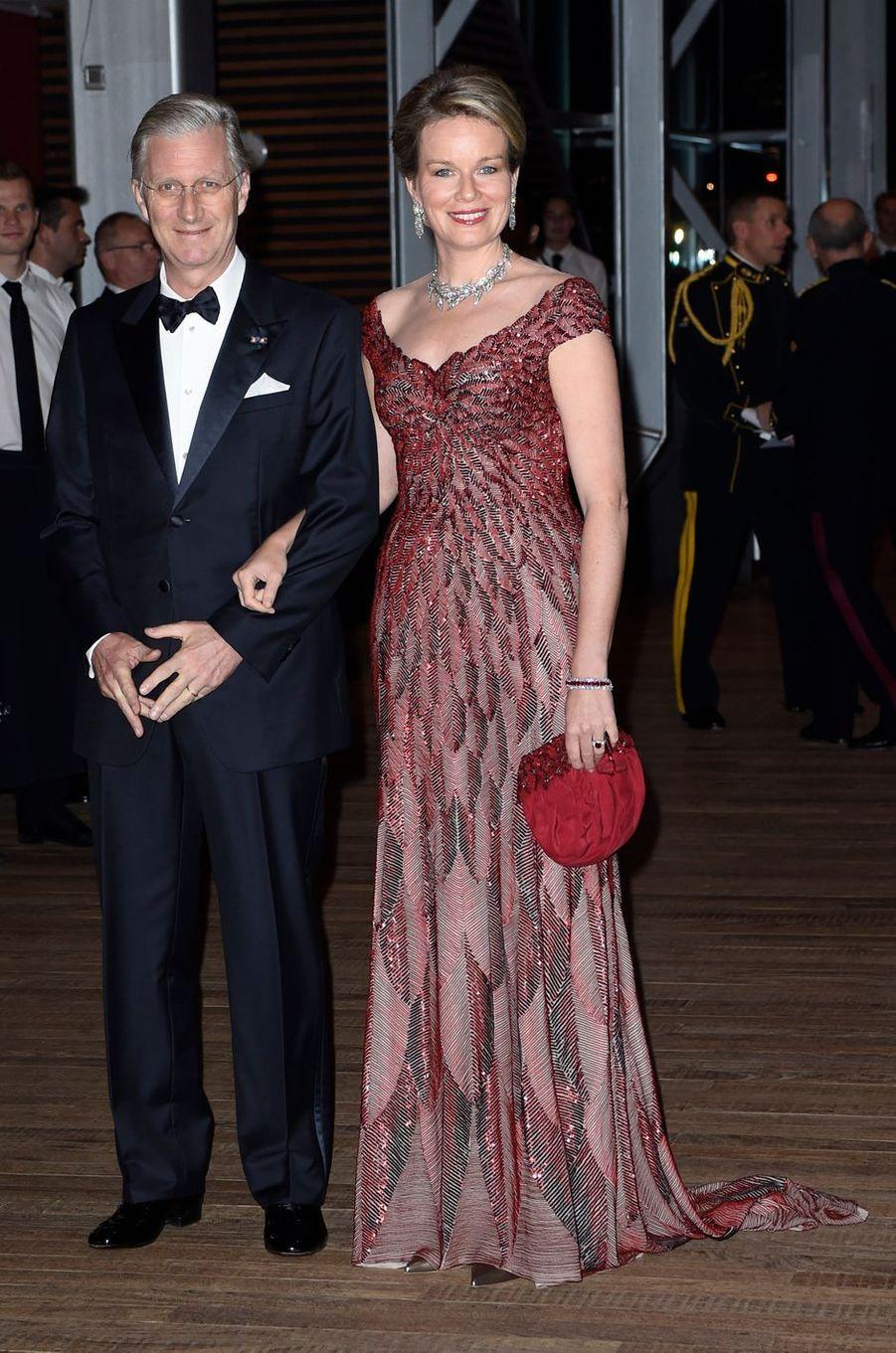La reine Mathilde et le roi Philippe de Belgique à Amsterdam, le 29 novembre 2016