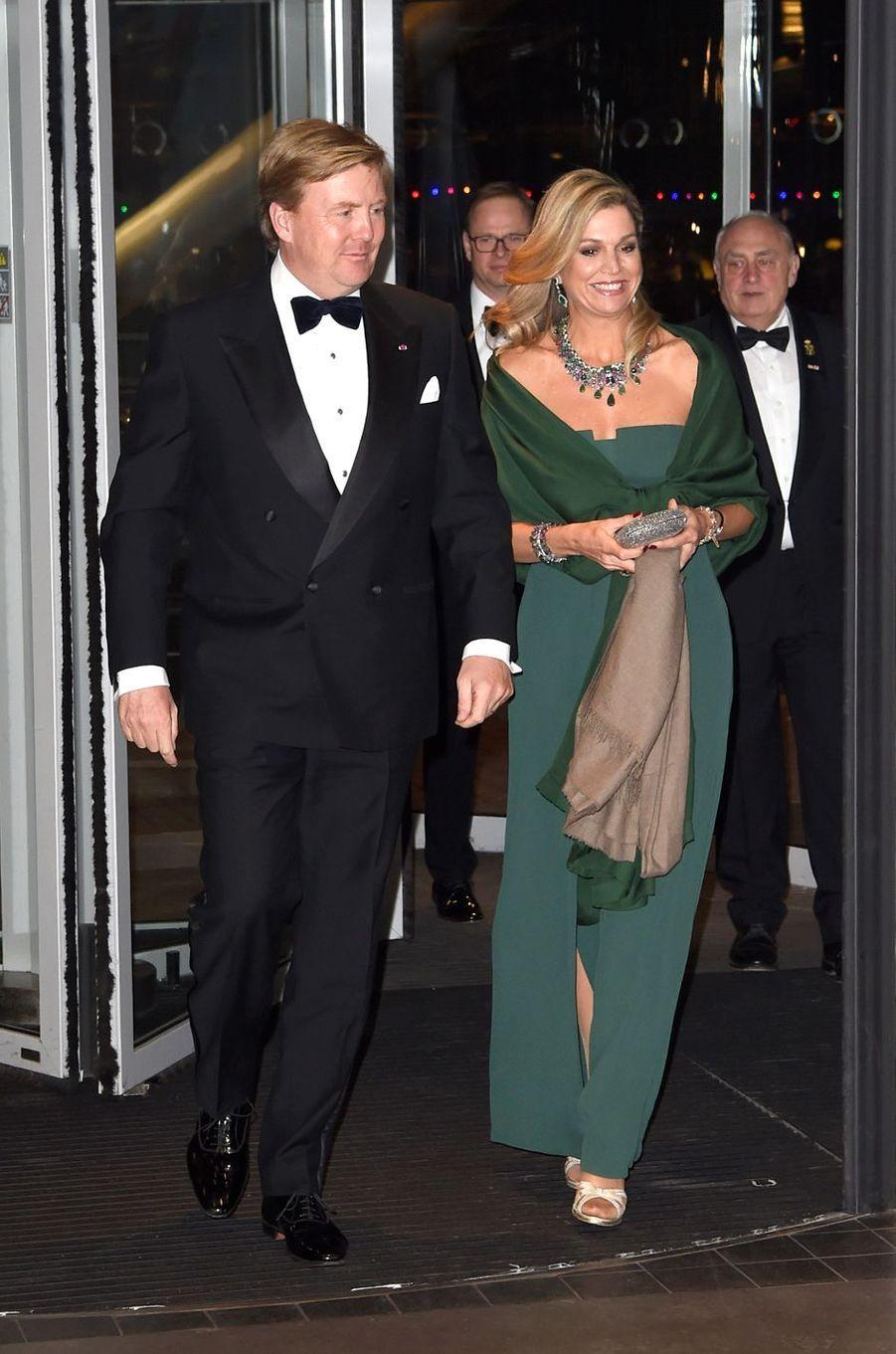 La reine Maxima et le roi Willem-Alexander des Pays-Bas à Amsterdam, le 29 novembre 2016