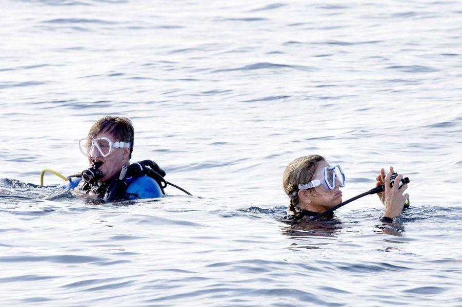 La reine Maxima et le roi Willem-Alexander des Pays-Bas à Saba, le 1er décembre 2017