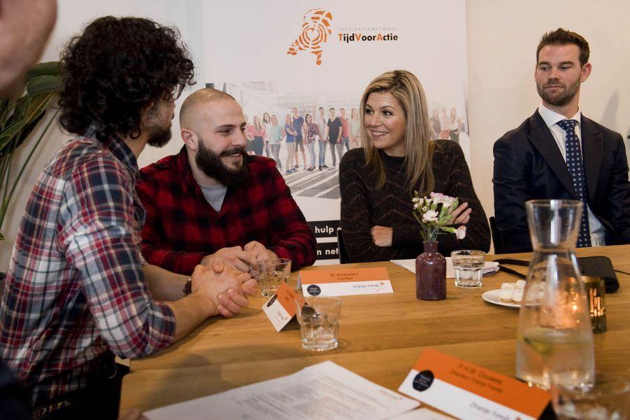 La reine Maxima des Pays-Bas à une réunion à Rotterdam, le 11 janvier 2018