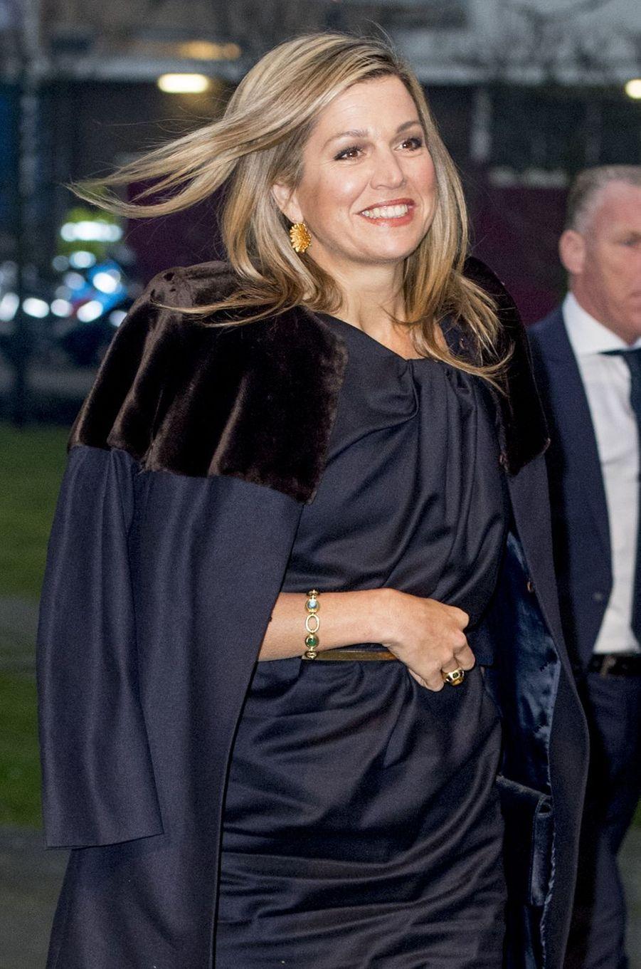 La reine Maxima des Pays-Bas le 23 janvier 2017 à La Haye