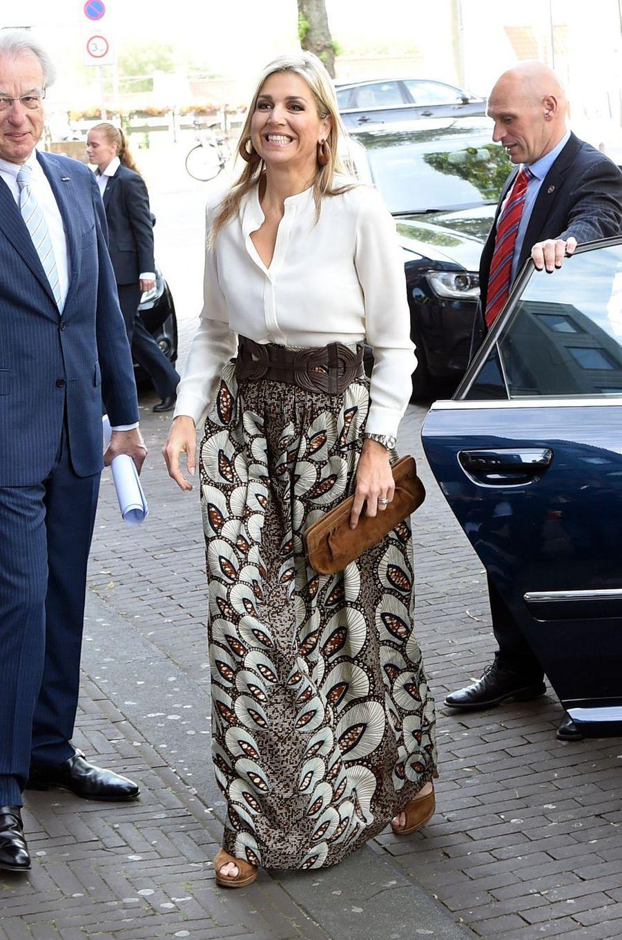 La reine Maxima des Pays-Bas à La Haye, le 10 juin 2016