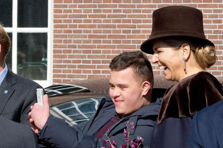 La reine Maxima des Pays-Bas à Amsterdam, le 16 mars 2016