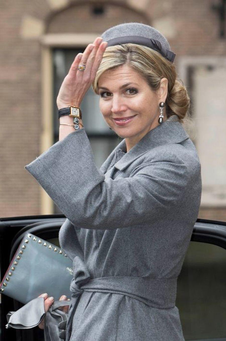 La reine Maxima des Pays-Bas à La Haye, le 15 mars 2016