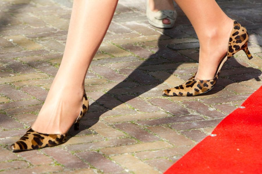 Les souliers de la reine Maxima des Pays-Bas à Amsterdam, le 16 mars 2016