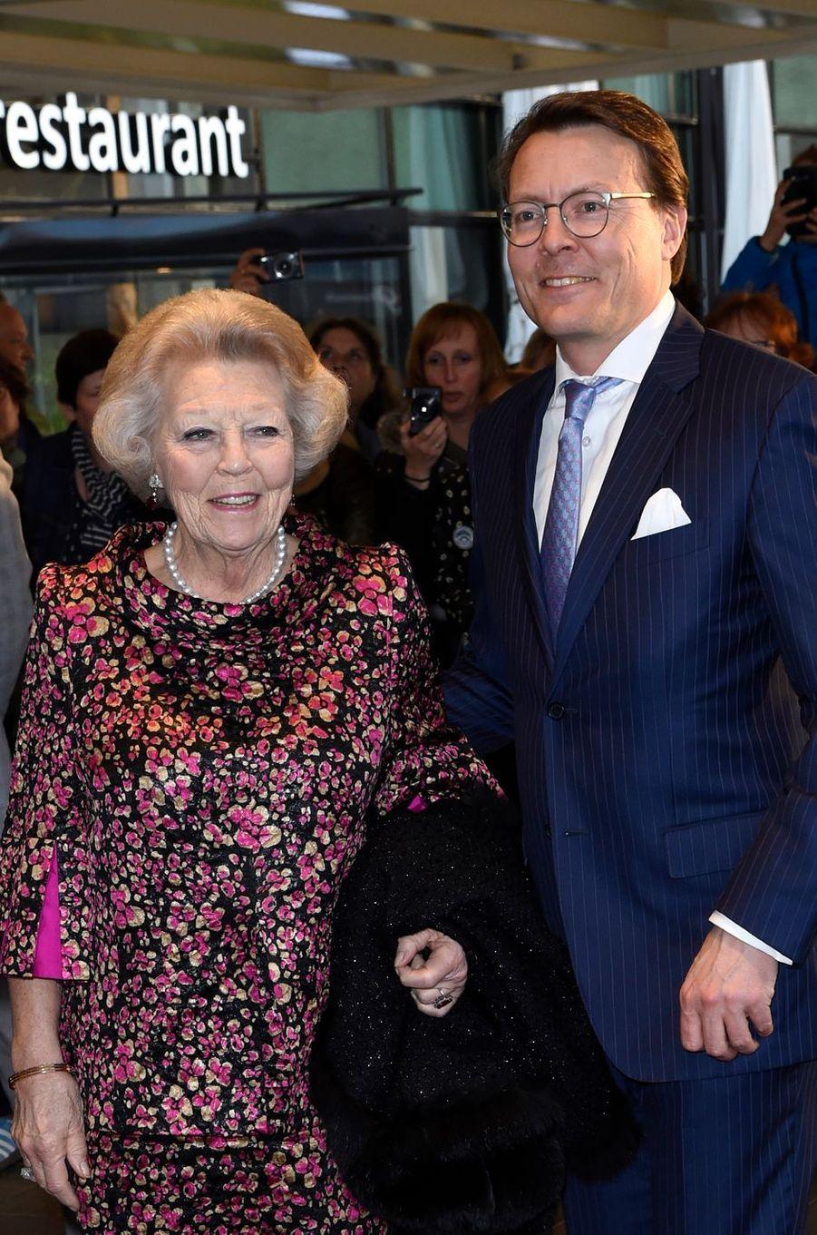 La princesse Beatrix et le prince Constantijn des Pays-Bas à Tilburg, le 3 avril 2017