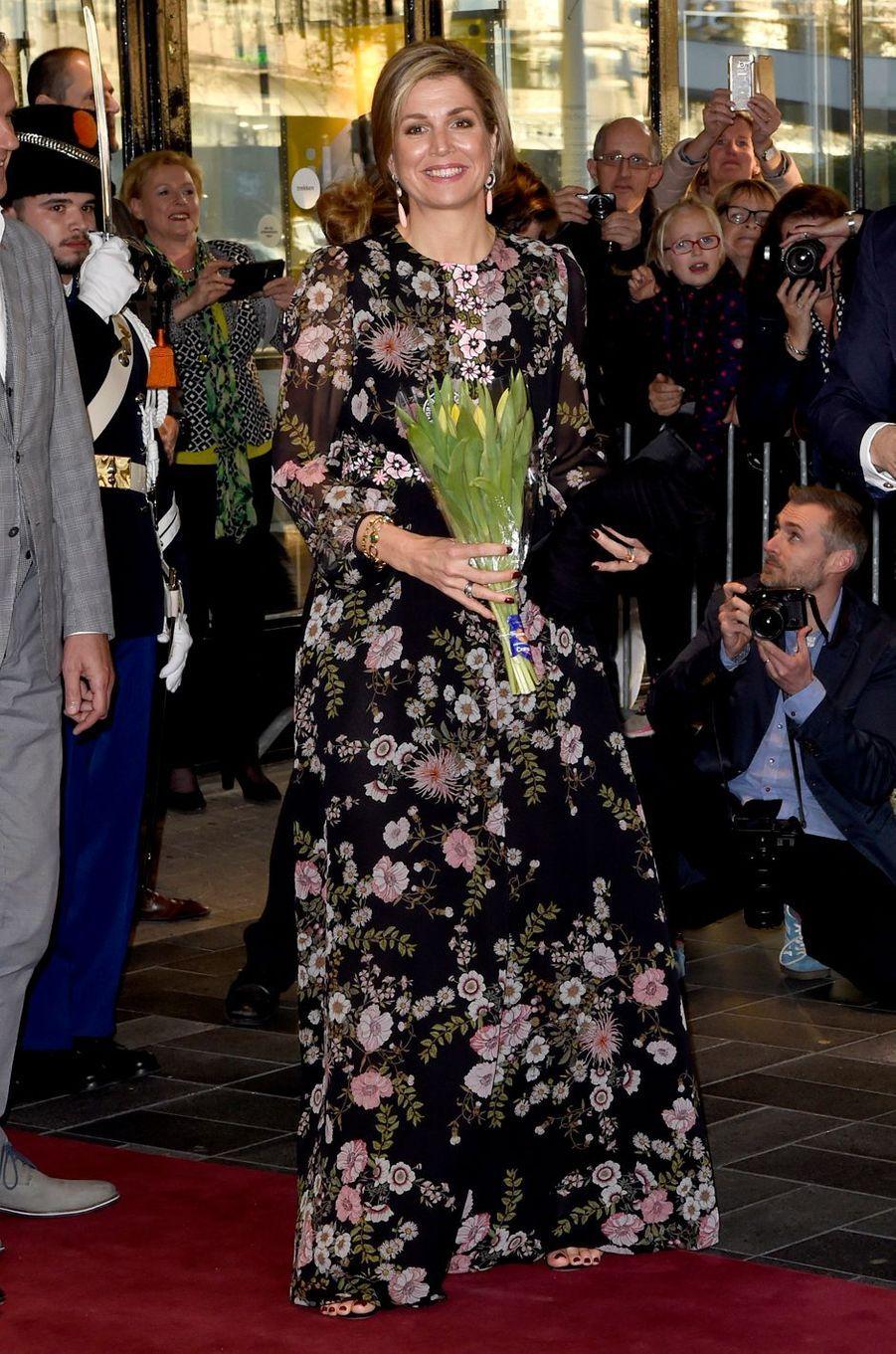 La reine Maxima des Pays-Bas à Tilburg, le 3 avril 2017