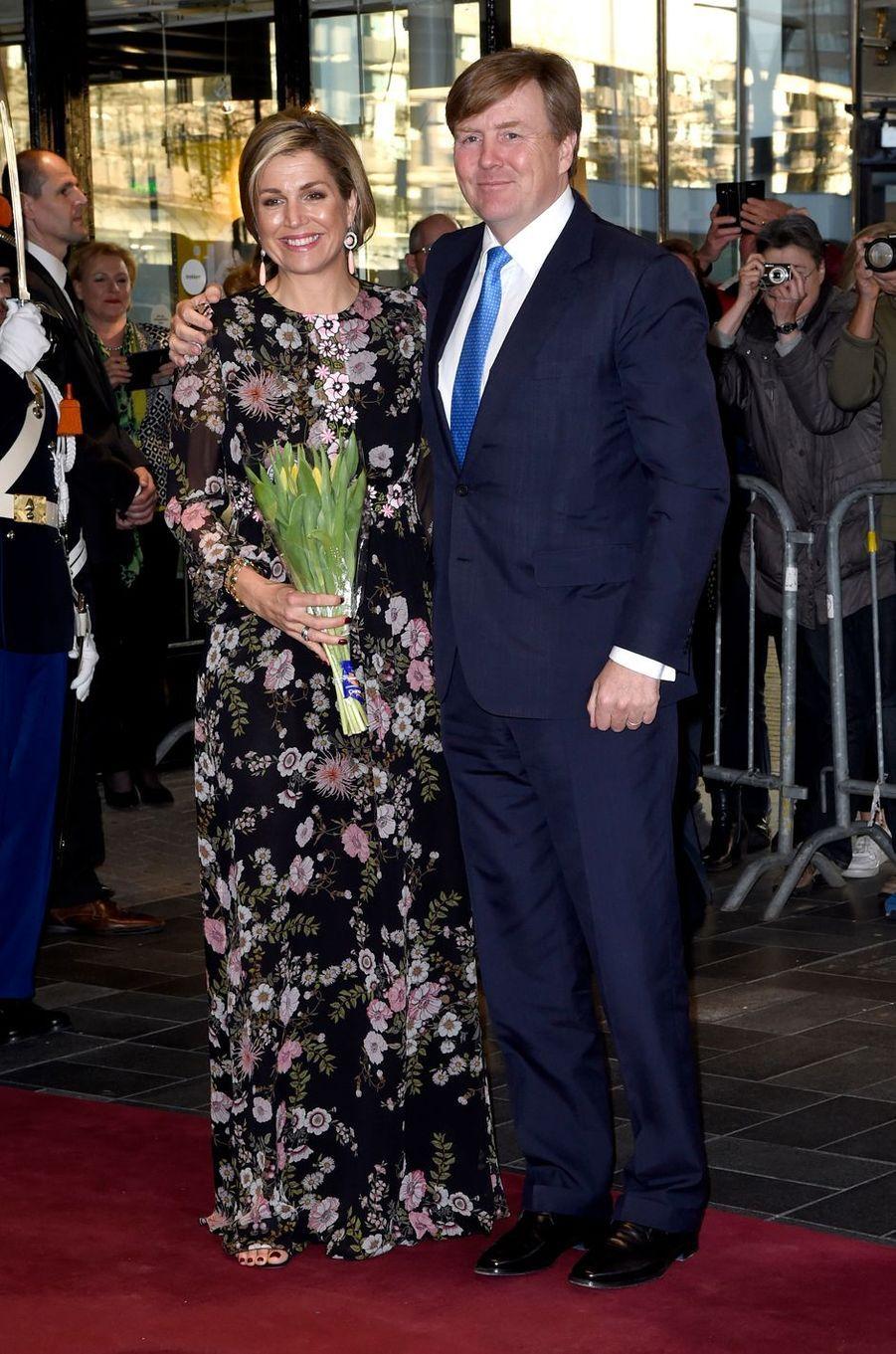 La reine Maxima et le roi Willem-Alexander des Pays-Bas à Tilburg, le 3 avril 2017