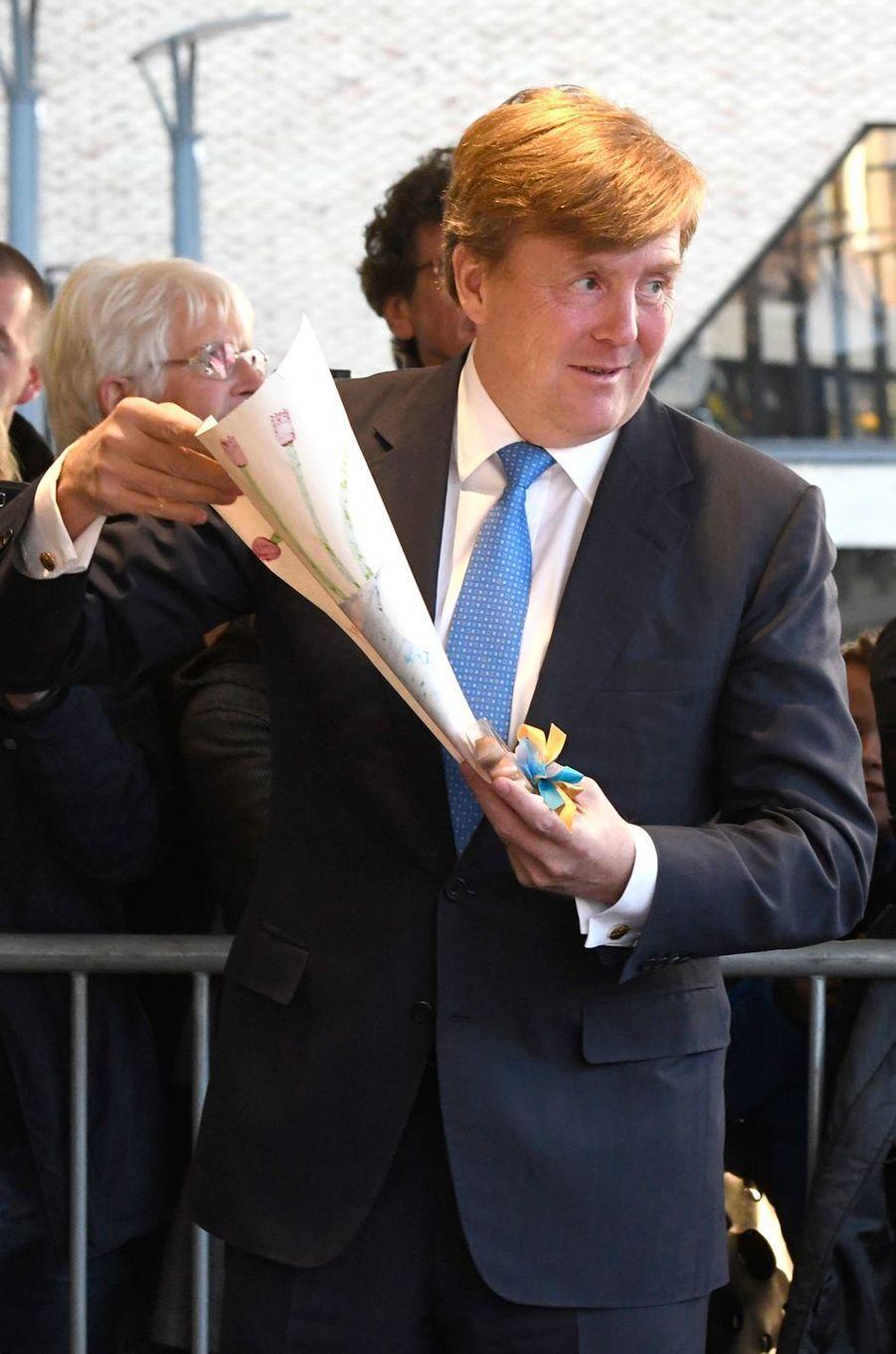 Le roi Willem-Alexander des Pays-Bas à Tilburg, le 3 avril 2017
