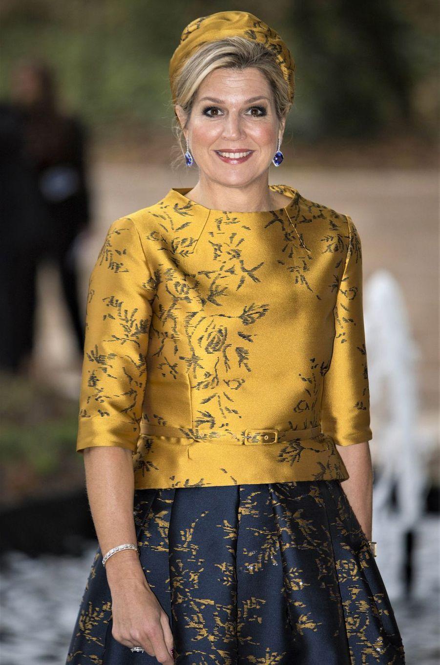 La reine Maxima des Pays-Bas à Amsterdam, le 6 décembre 2018