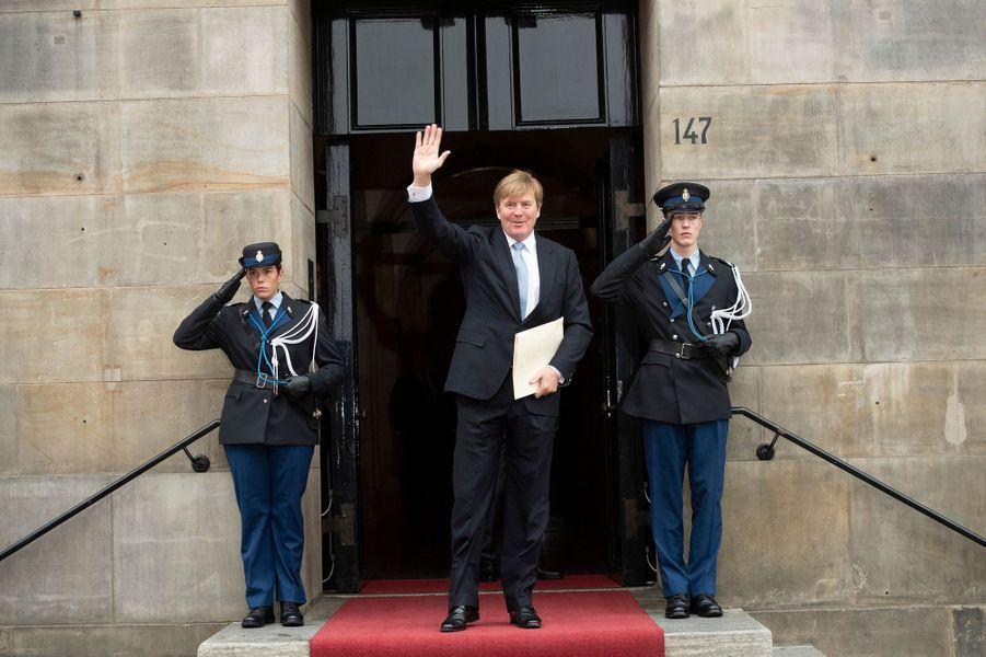 Le roi Willem-Alexander des Pays-Bas à Amsterdam, le 6 décembre 2018