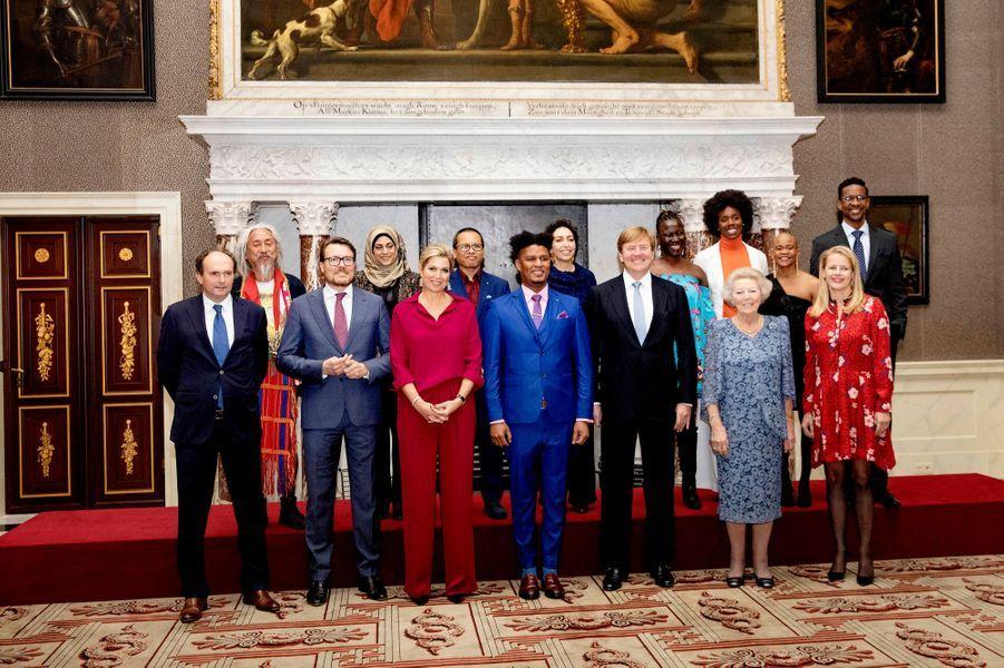 La famille royale des Pays-Bas et les lauréats du Prix Prince Claus 2018 à Amsterdam, le 6 décembre 2018