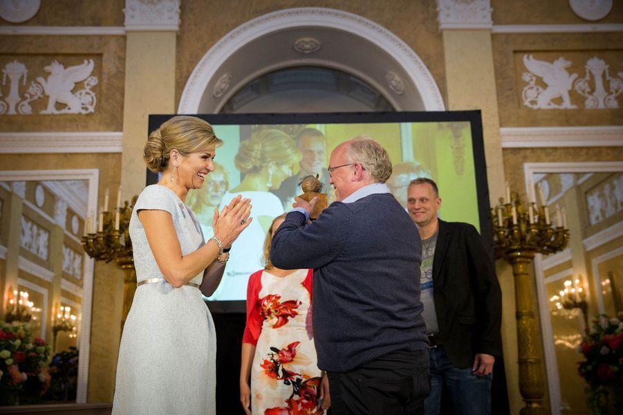 La reine Maxima des Pays-Bas à La Haye, le 26 mai 2016