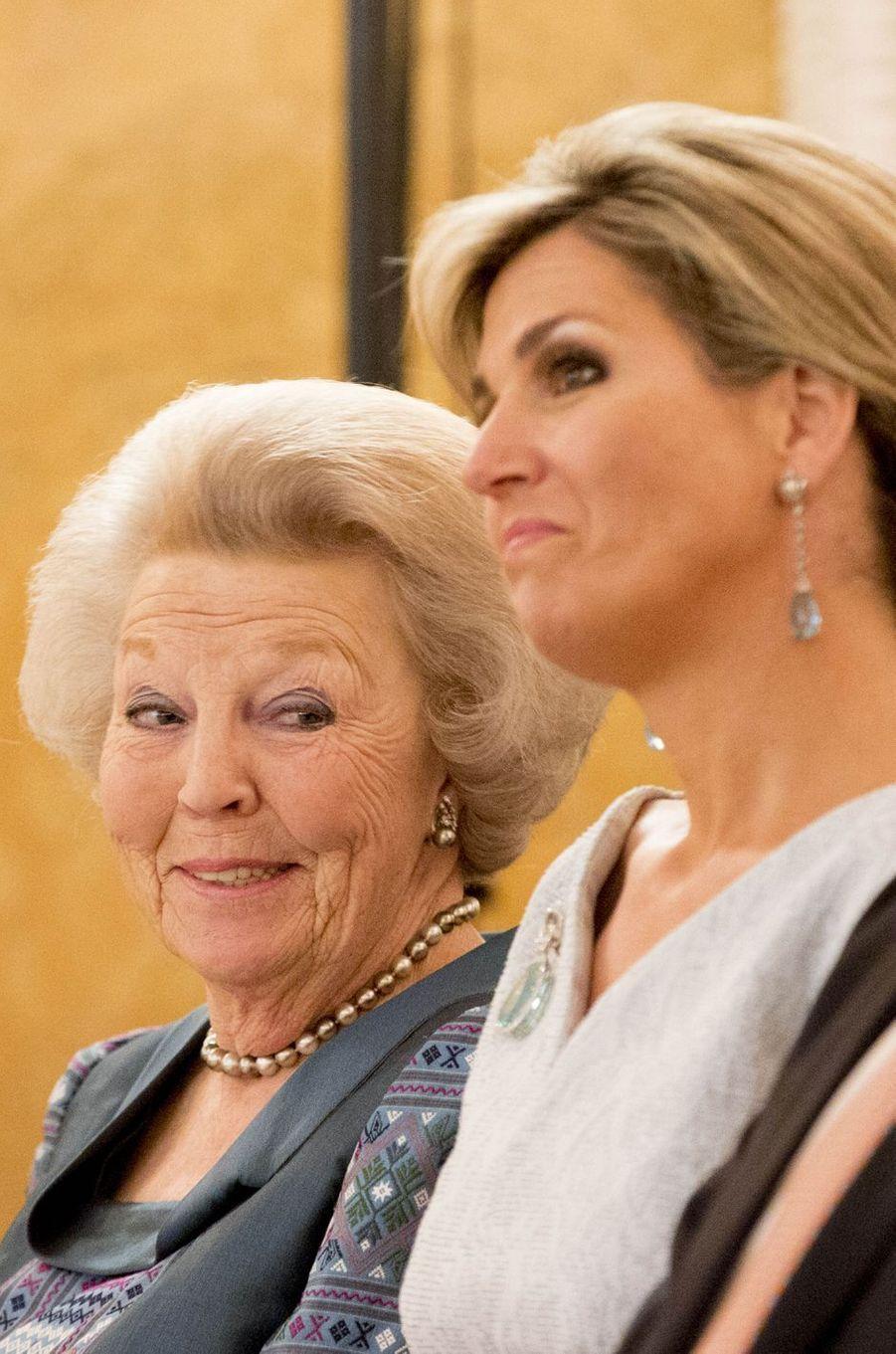 La reine Maxima et la princesse Beatrix des Pays-Bas à La Haye, le 26 mai 2016