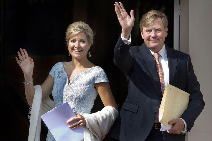 La reine Maxima et le roi Willem-Alexander des Pays-Bas à La Haye, le 26 mai 2016